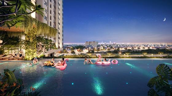 Moonlight Centre Point đáp ứng nhu cầu nghỉ ngơi tại gia của cư dân với 2 hồ bơi skypool tại tầng 5 của dự án.