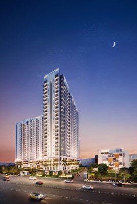 Phối cảnh block Silver Moon và Emerald Moon dự án Moonlight Centre Point sở hữu mặt tiền đắc địa.
